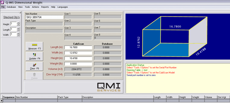 Dimensional Weight Factor Software